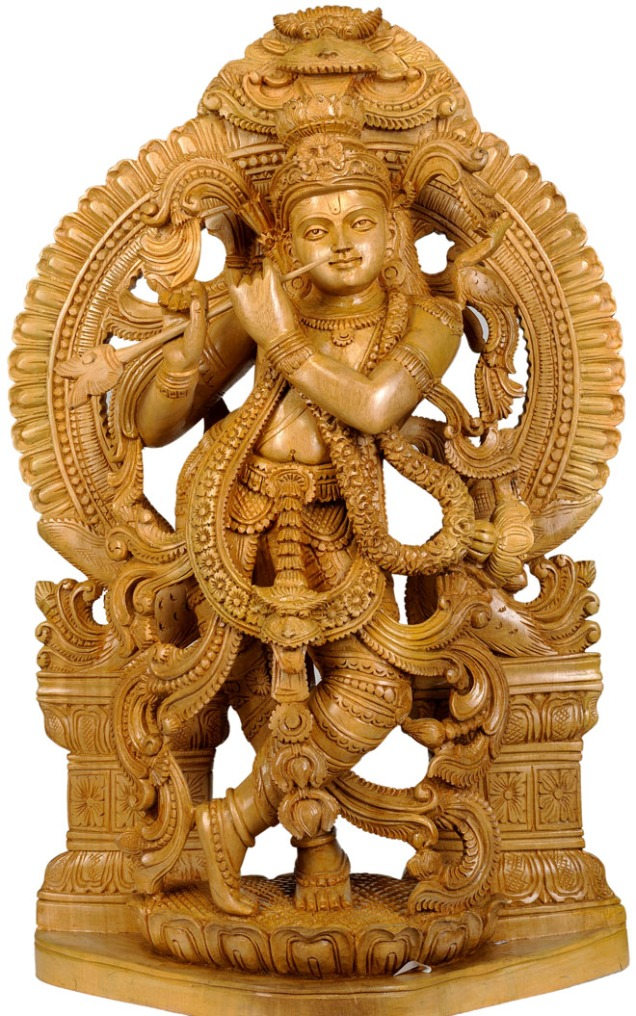 19-wood-carving-sculpture-krishna-hindu-god