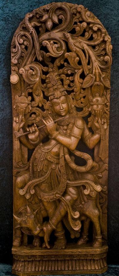27-wood-carving-god-krishna