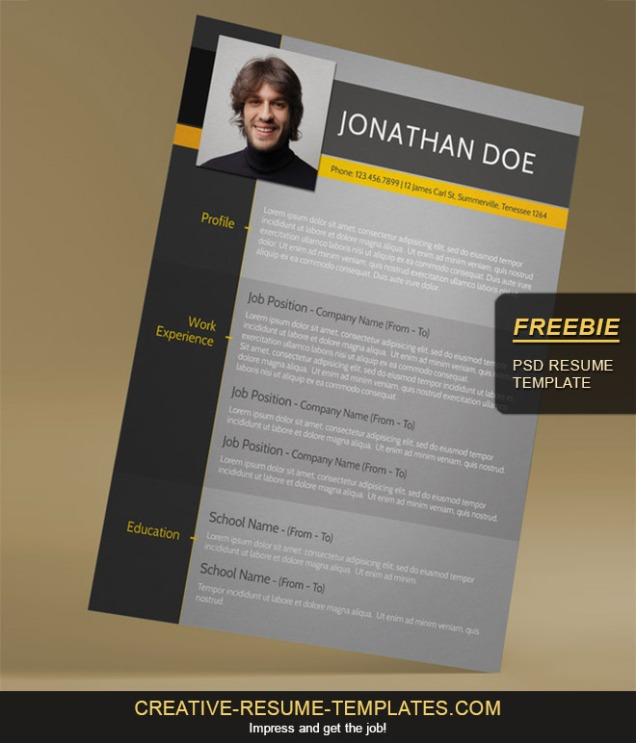 5-free-psd-resume-template