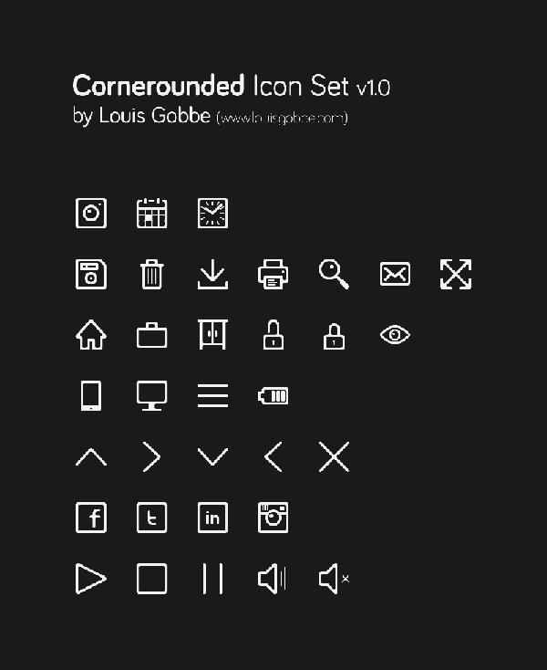 Cornerounded-Icon-Set