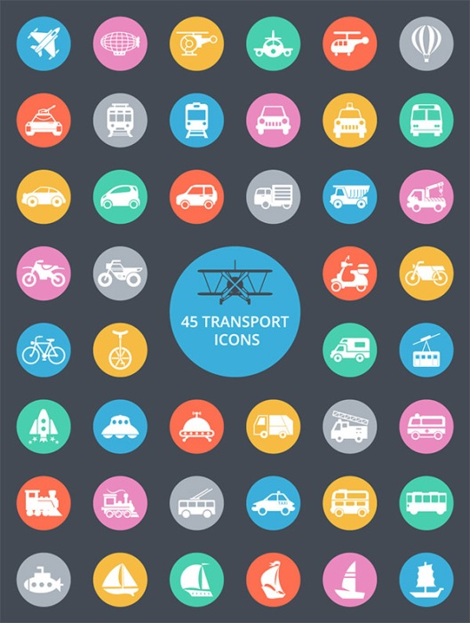 exclusive-45-free-transport-icons