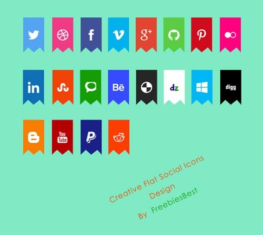 flat-creative-social-icons-psd-resource