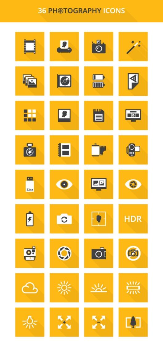 free-photography-icons-set