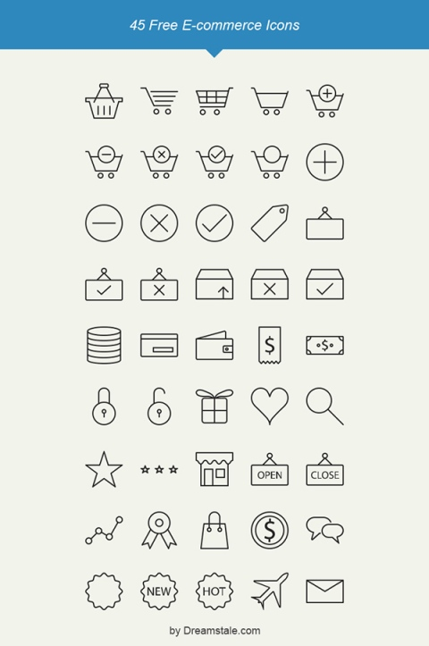 freebie-45-outline-e-commerce-icons-dreamstale