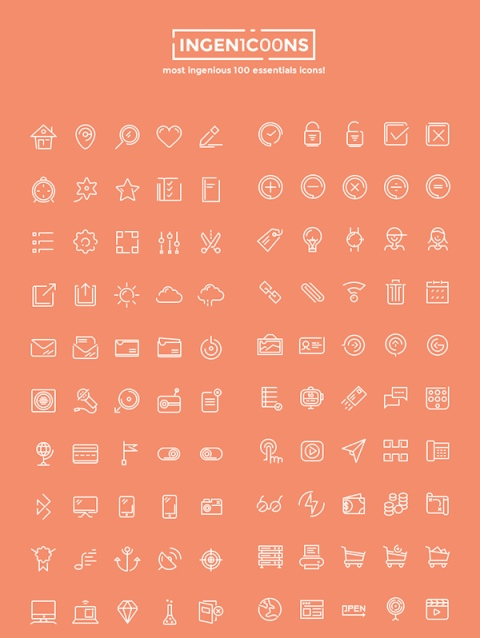 ingenicons-100-icons-set