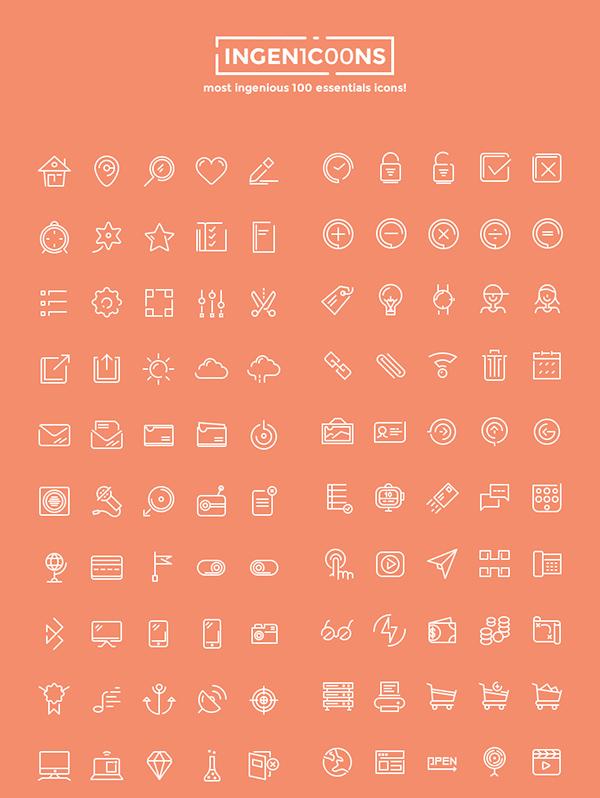 ingenicons-100-icons-set