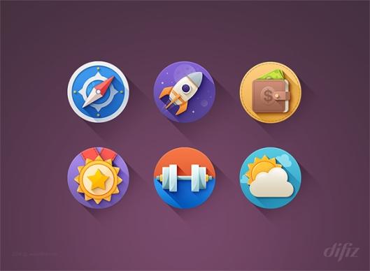 Kinda-Flat-Icons