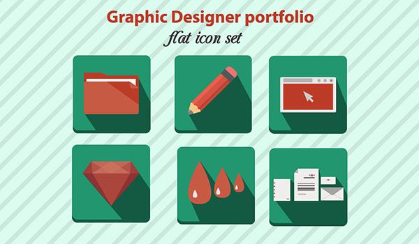 Portfolio-Flat-Icon-Set