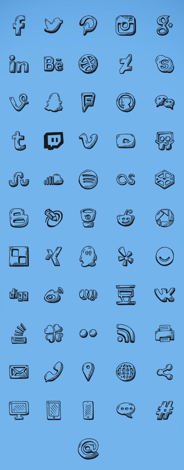 Social-Icons-Free-Set