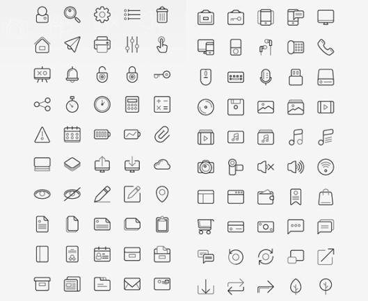 TwoGrey-Icons-Set